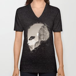 Alien´s Head Unisex V-Neck