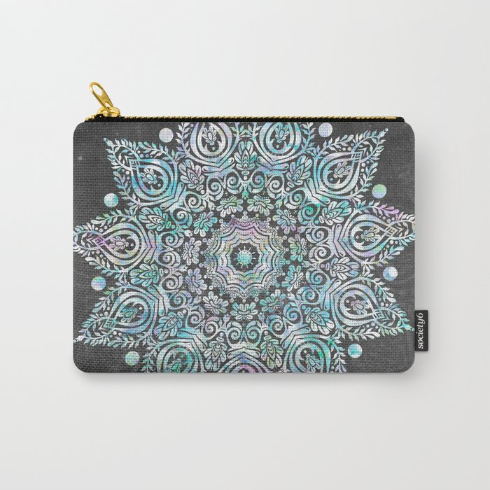 Mermaid Mandala on Deep Gray Carry-All Pouch