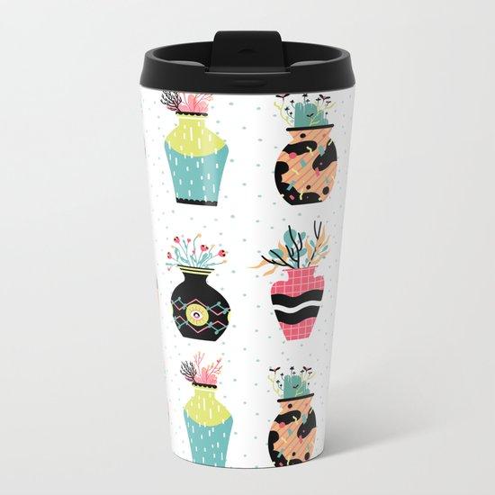 Vase Metal Travel Mug