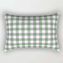 Plaid (sage green/white) Rectangular Pillow
