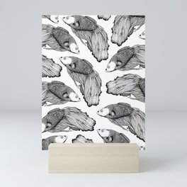 Siamese fighting fish pattern Mini Art Print