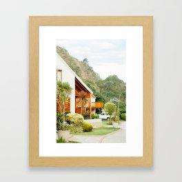 Seabreeze Cabanas, South Africa Framed Art Print