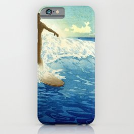 Hawaiian Surfer portrait painting by Charles W. Bartlett iPhone Case
