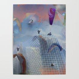 Dream Gliding Cityscape Flash Poster