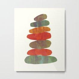 Stacking Stones - C Metal Print