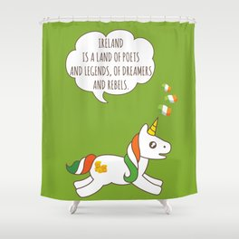 St. Patrick's Day Unicorn 3 Shower Curtain