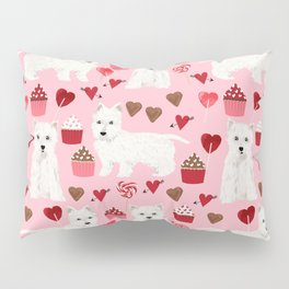 Westie west highland terrier dog breed valentines day cute dog person must have gifts pet portraits Pillow Sham