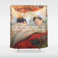 lorde Shower Curtains featuring Sharing Beds by Lorde Art History