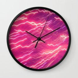 Pink Firework Wall Clock