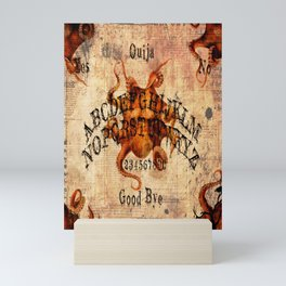 Here There Be Monsters Talking Board Mini Art Print