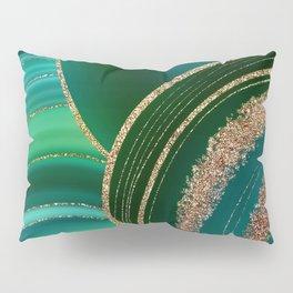 Emerald Marble Glamour Landscape Pillow Sham