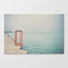 the orange steps ... Canvas Print