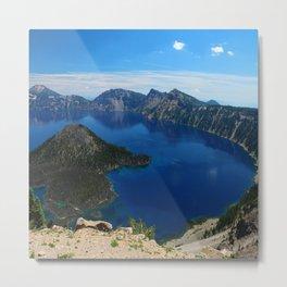 Wizard Island In The Lake Metal Print