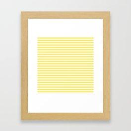 Lemon yellow stripes Framed Art Print