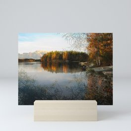Boats by the Lake in October Mini Art Print