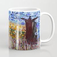 woodstock Mugs featuring :: Indiana Blue Willow :: by :: GaleStorm Artworks ::
