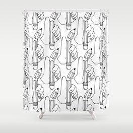 dang it pencil Shower Curtain
