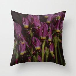 Purple Flowers Throw Pillow