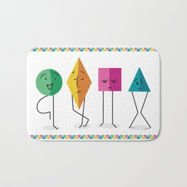 Geometry Friends Bath Mat