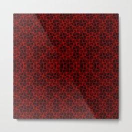 Red Blocks Pattern #2 Metal Print
