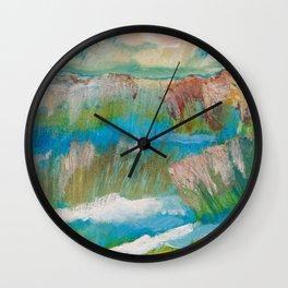 Alberta Spring Landscape / Dennis Weber of ShreddyStudio Wall Clock