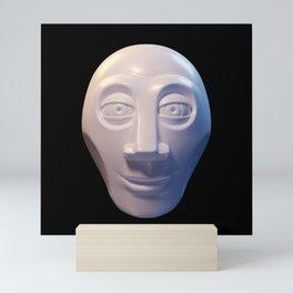Alien-human hybrid head Mini Art Print