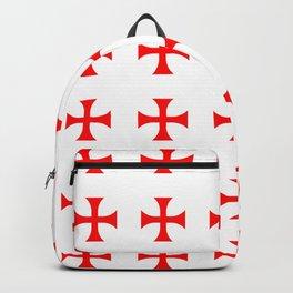 Cross pattée- crusades, templar,patty,templier Backpack