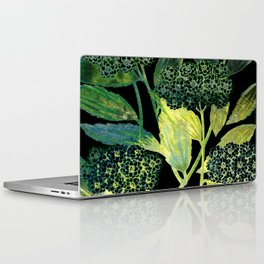 Dark floral with golden accent Laptop & iPad Skin