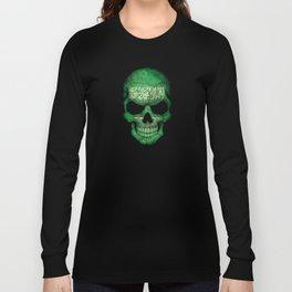 Dark Skull with Flag of Saudi Arabia Long Sleeve T-shirt