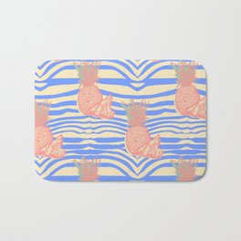 Zebra and pineapple Bath Mat