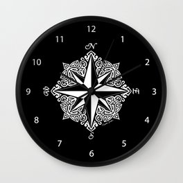 Cindy's Tribal Compass Rose Wall Clock