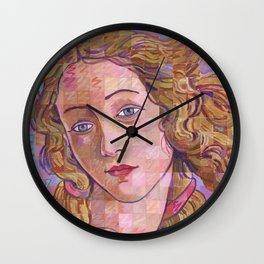 Variations On Botticelli's Venus – No. 4 (Iridescence) Wall Clock