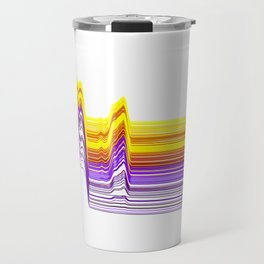 Fe Lines in Neon Colors Travel Mug