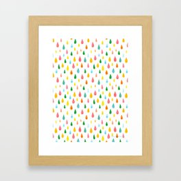 Happy Rain Framed Art Print