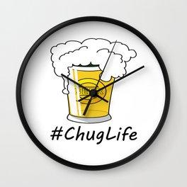 #ChugLife Beer Mug Wall Clock