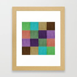 Linen Block Framed Art Print