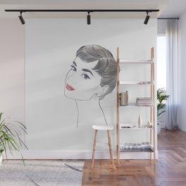 Audrey Hepburn Wall Mural