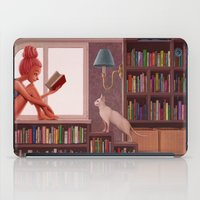 bookworm iPad Cases featuring Bookworm by Joifish