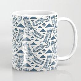 The Hawk's Flight_ Beige and Blue Coffee Mug