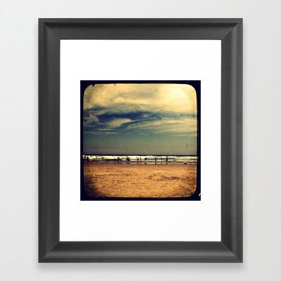 Vintage Beach - Through The Viewfinder (TTV) Framed Art Print