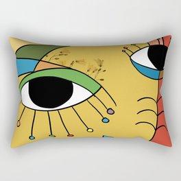 Flower Face Rectangular Pillow