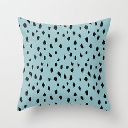 Seeing Spots in Robins Egg Throw Pillow