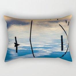 Pieces of wood reflection Rectangular Pillow