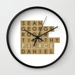My favorite James Bond is... Pierce Brosnan Wall Clock