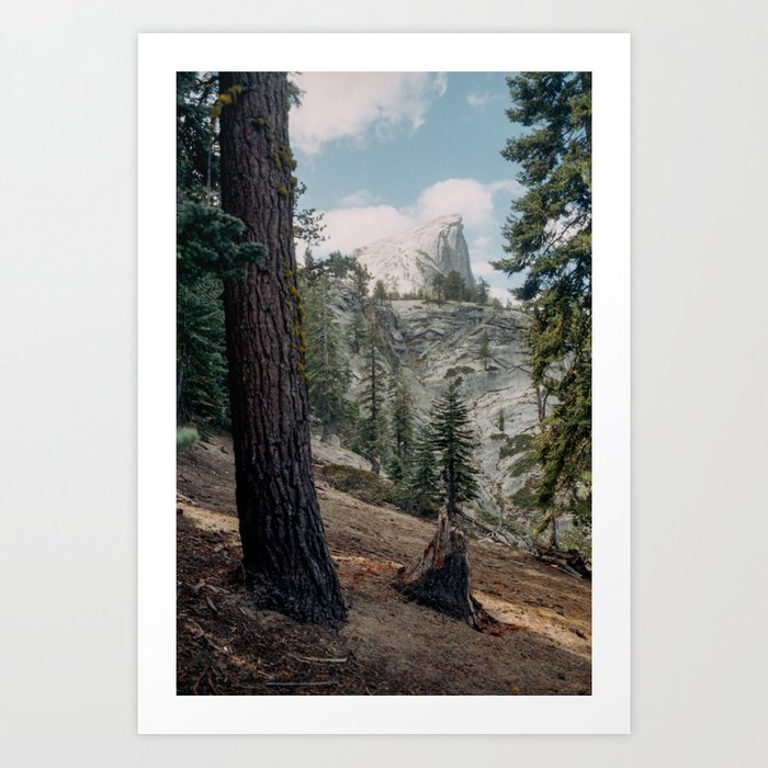 Shop Framed Art Print Half Dome Winter: Half Dome Art Print By Kevinruss