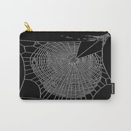 A Large Illustration Of A Spider's Web Carry-All Pouch