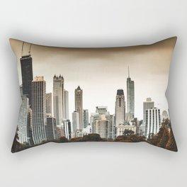 chicago skyline at dusk Rectangular Pillow