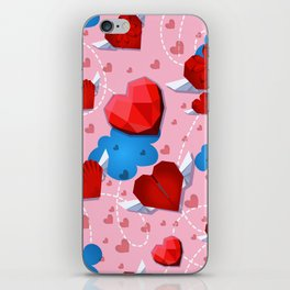 Hearts pattern for textile or wallpaper iPhone Skin