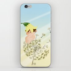 Resting on a dandelion iPhone Skin
