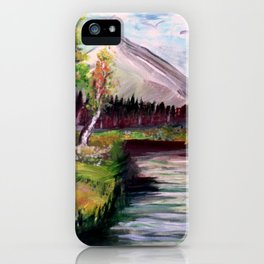Stream and mountains iPhone Case